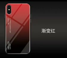 Fashion Gradient Colors Tempered Glass Back Phone Case For iPhone X XS Max XR 8