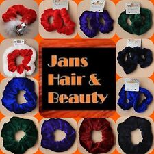 VELVET SCRUNCHIE BOBBLE SINGLE LARGE AND 2 TO A PACK SMALL SCRUNCHIES
