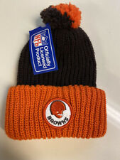 Vintage Cleveland Browns Knit Pom Top Hat Cap Authentic Licensed Nfl Usa 80's