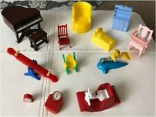 Vintage lot of RENWAL, ACME and OTHER DOLL FURNITURE PIECES VG condition