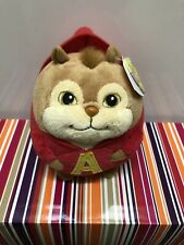 "Ty Beanie Ballz Alvin And The Chipmunks 5"" Plush Stuffed Animal.NWMT."