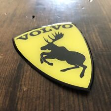 """GENUINE Discontinued Traditional Prancing Moose VOLVO 3"""" Poly Gel Dome Decal"""