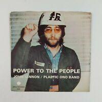"""JOHN LENNON """"Power To The People"""" #1830 APPLE 7"""" 45rpm Vinyl VG+ PS STAR BEATLES"""