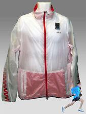 REEBOK Training Day Zigtech PlayDRY Running Cycling Rain Jacket White XL