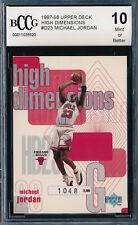 MICHAEL JORDAN 1997-98 UPPER DECK HIGH DIMENSIONS #/2000 BCCG 10 CARD #HD23 BGS!