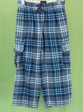 604 mini Boden boys blue plaid pants EUC Size 5-6Y