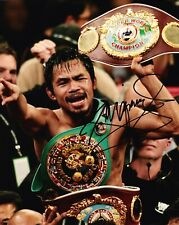 Manny Pacquiao Signed 10X8 PHOTO Iconic Boxer AFTAL COA (A)