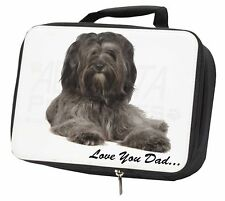 More details for tibetan terrier dog 'love you dad' black insulated school lunch box , dad-192lbb