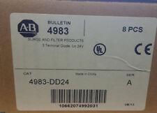 Box x 8 Allen Bradley 4983-DD24 Surge/Filter Products 3 Term Diode Uc 24V SER A