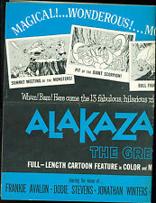 Alakazam the Great Saiyûki (1960) Frankie Avalon Jonathan Winters pressbook