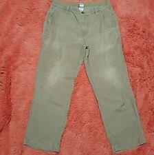 North Face Sz 34 Short Pants Corduroy Beige Tan Mens Zip Fly 34x29 100% Cotton