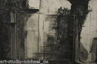 """Radierung Aquatinta Komposition """"Glas und Mauer"""" – Raum und Architekturelementen"""