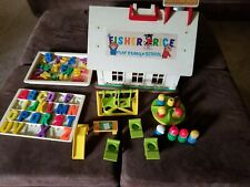 Fisher Price Play Family School 923 from 1971 8 Little People Swings Slide
