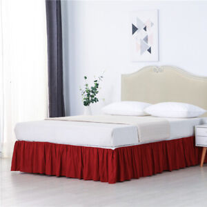 Bed Cover Bed Ruffle Skirt Easy Fit Wrap Around Soft Twin Full Queen King Size