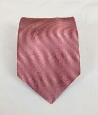 J. Press Men's 100% Silk Neck Tie Floral Red & Silver 59L 3.5W