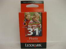 Lexmark #31 Color Ink Cartridges GENUINE NEW Sealed Box     18C0031