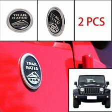 For Jeep Cherokee Trail Rated 4X4 Trunk Tailgate Fender Emblem Badge Logo 2pcs