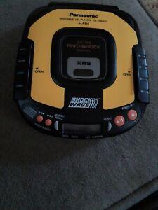 VTG PANASONIC Shock Wave Portable CD Player SL-SW405  TESTED WORKS Walkman Sport