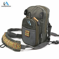 Fly Fishing Chest Pack Bag / Outdoor Sports Fishing Pack ArmyGreen (8.5 x 4.8'')
