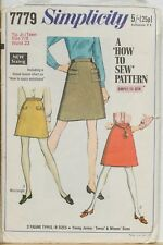 Simplicity Sewing Pattern 7779 Junior/Teens' Skirts In Two Lengths; Size 7/8