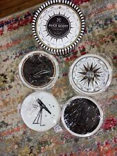 New listing Alice Scott Set of 4 Guilded Porcelean Coasters, Celestial, by Gallison, Bn