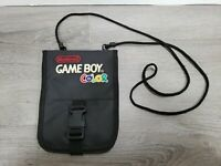 VINTAGE NINTENDO GAME BOY COLOR BLACK CARRYING CASE TRAVEL BAG WITH STRAP