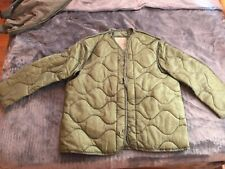 US Army Military M65 Field Jacket Quilted OD Green Coat Liner M-65  XS-M-L-XL