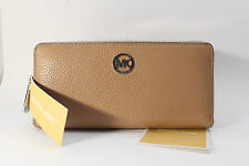 Michael Kors Fulton ZA Continental Pebbled Leather Wallet Dark Khaki 35F5SFTZ3L