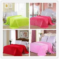 Warm Soft Fleece Blanket Rug Throw Sofa Bedding Double Luxury Carpet Quilt Hot