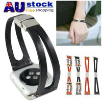AU Leather Replacement Wristband Watch Strap Band for Apple Watch Series 1/2/3