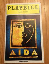 RARE Vintage AIDA Broadway PLAYBILL 2000 Heather Headley Adam Pascal OBC