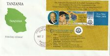 TANZANIA 2 MAY 2005 FIFA CENTENARY SOUVENIR SHEET FIRST DAY COVER