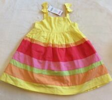 NWT GYMBOREE SOCIAL BUTTERFLY Yellow Rainbow 2 Piece Dress Outfit 2 Years 2T