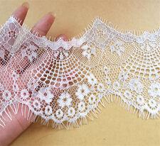 Bridal Chantilly Pestañas Encaje ribete Marfil Boda recorte 12cm * 300cm/piece