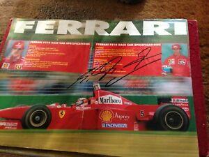 Michael Schumacher Signed Autographed Magazine Page