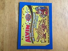 2017 WACKY PACKAGES 50TH ANNIVERSARY BLUE STICKER ALVIN AND THE CHIMPMUNKS DEAD