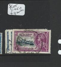 KENYA, UGANDA TANGANYIKA  (P0409B) KGV SILVER JUBILEE SG 125-7  VFU