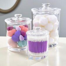 Premium Quality Clear Plastic Apothecary Jars with Lid,Set of 3, 60oz,30oz,15oz