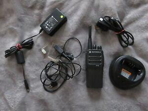 Motorola DP1400 UHF Radio Charger Earpiece Bundle - Used