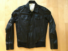 DIESEL Least Black Lamb Leather Moto Motorcycle Coat Jacket L $600 Thanaz