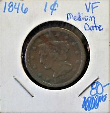 1846 1C Vf Medium Date>Coins: Us > Large Cents > Braided Hair