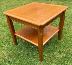 """Vintage Wooden Teak """"LEGATE"""" Side / Coffee / Lamp Table With Undershelf (MCM)"""