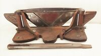 Vtg antique Lion machine universal cutter no.4 miter trimmer woodworking tool
