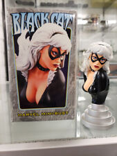 Marvel 4.5'' BLACK CAT Mini-Bust (Artist Proof AP) Limited Bowen Designs Opened