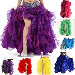 New Professional Belly Dance Waves Skirt Dress Sexy Dance Costume TuTu Skirt S