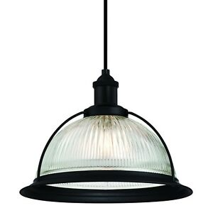 Westinghouse Hanging Light Retro Matt Black And Clear Glass With 1 Lamp