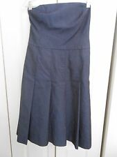 ISAAC MIZRAHI FOR TARGET--STRAPLESS PLEATED DENIM COLORED DRESS---SIZE 4