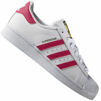5d254d4c3cce53 adidas Originals Superstar Foundation Weiß Pink B23644 Damen-Sneaker Schuhe