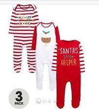 Ladybird 3pack Unisex Christmas Sleep Suits 0-3 Months ⭐️BNWT
