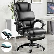 Executive Office Chair Computer Desk Chair Leather Swivel Recliner Gaming Chair